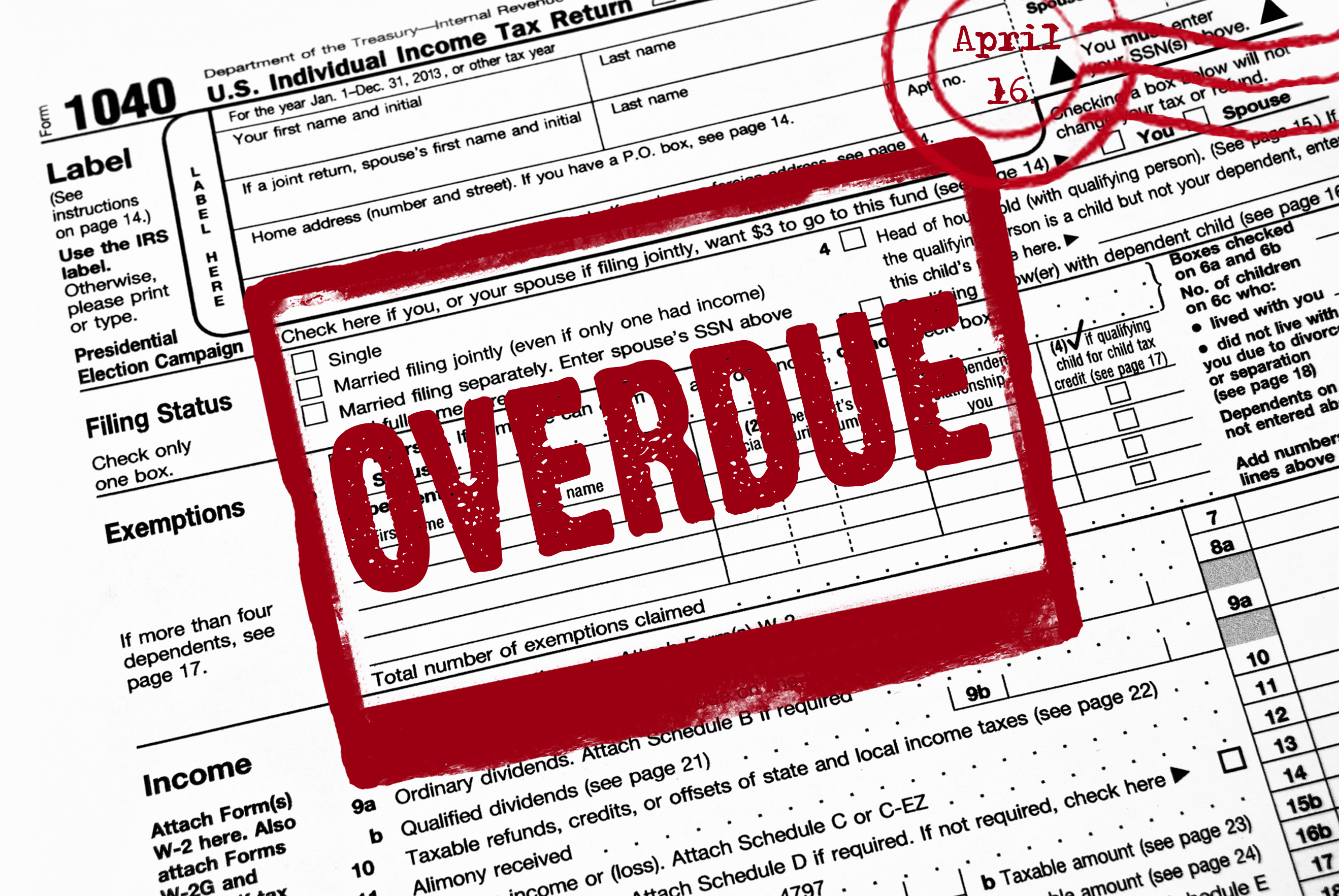 warning on tax form
